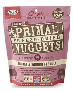 Primal Freeze Dried Turkey and Sardine Dog 1X5.5OZ