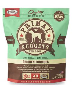 Primal Frozen Chicken Nuggets Dog 1X3LB