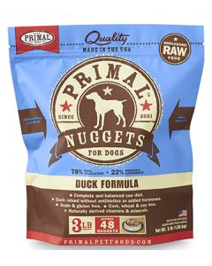 Primal Frozen Duck Nuggets Dog 1X3LB