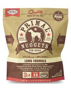Primal Frozen Lamb Nuggets Dog 1X3LB