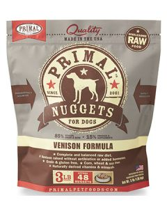 Primal Frozen Venison Nuggets Dog 1X3LB