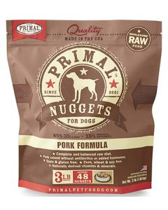 Primal Frozen Pork Nuggets Dog 1X3LB