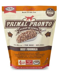 Primal Frozen Pronto Beef Dog 1X4LB