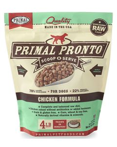 Primal Frozen Pronto Chicken Dog 1X4LB