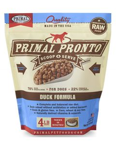 Primal Frozen Pronto Duck Dog 1X4LB