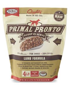 Primal Frozen Pronto Lamb Dog 1X4LB