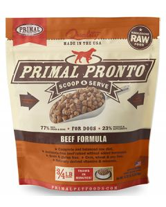 Primal Frozen Pronto Beef Dog 1X.75LB