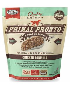 Primal Frozen Pronto Chicken Dog 1X.75LB