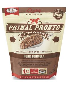 Primal Frozen Pronto Pork Dog 1X4LB