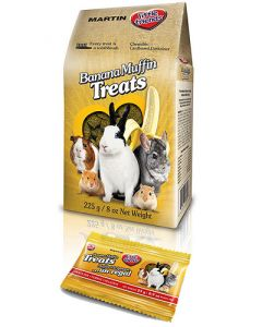 MARTIN'S Hearty Banana Muffin Rabbit Treat Small Animal 1X2X24X25G